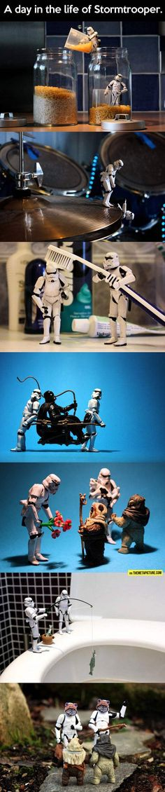 Just a day in the life of a Stormtrooper…