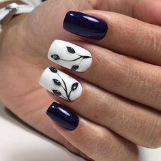 Мои закладки unhas artísticas, unhas de gel, cuidado de las uñas, diseños d Nail Designs Spring, Nail Art Designs, Nails Design, Nagellack Trends, Nagel Gel, Flower Nails, Creative Nails, Blue Nails, Gorgeous Nails