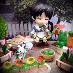 Eren in the wonderful garden.