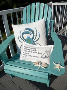 MESSING ABOUT in BOATS indoor outdoor pillow by crabbychris, $38.00