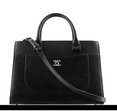 Chanel Black Executive Bag Shopping Tote Shoulder Bag  2017 Caviar