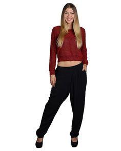 15c68ae937936 Banded Waist Pleated Black Pants Ladies Boutique