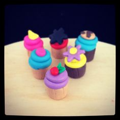Sweet Polymer Clay Cupcakes <3 <3 <3