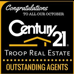 "Congratulations to these #C21Troop ""Outstanding Agents"" in October!!! Christy Rueckert, Joe & Marty Ahearn, Gabriela Hernandez, Sandy Rutter, Heather Hartman, Holly Kraszewski, Rosalie Zabilla, Anita Muller, Walter & Camille Morris, Judy Ohaco, Kathleen Bruno & Stanley Taff, Alex Gandel, Andy Torres, Betty McFarlin, Sherry Dilworth, Traci Baldwin, Blake Mashburn, Karen Todey Rooke, Jeff Riggs, Beatriz Lopez, Tina Hare"