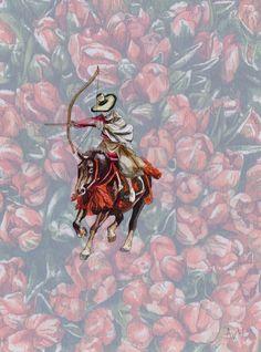 Adele van Heerden art online - Archer In Tulips Art Online, Online Art Gallery, Soldier Drawing, Tiger Drawing, Toy Soldiers, Archer, Adele, Gouache, Tulips