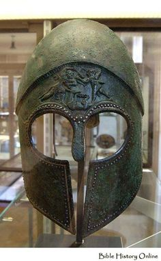 Bronze Corinthian Helmet  with silver nails,5th cent.BC