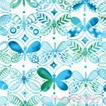 Tamara Kate Flight Patterns Pattern Dancers Turquoise [MM-DC6106-Turquoise] - $10.45 : Pink Chalk Fabrics is your online source for modern quilting cottons and sewing patterns., Cloth, Pattern + Tool for Modern Sewists