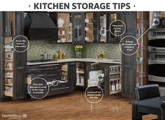 Organize your kitchen with these tips and ideas. These storage solutions are perfect for keeping your kitchen and cabinets tidy.