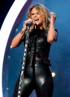 Miranda Lambert loving the leather outfit and the way she owned that stage