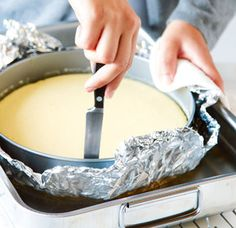 :: How to make a perfect cheesecake: Best trick ever!