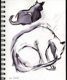 cat drawings   cat drawing the doodlers 2 jpg siamese cat drawing copyright arna cat ...