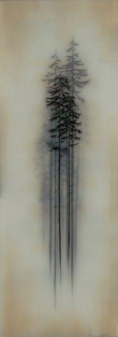 tattoo idea   faded trees                                                                                                                                                     More