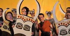 students performing The Lion King