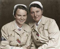 Deutsches Rotes Kreuz (German Red Cross) nurses during WWII. My grandmother was…