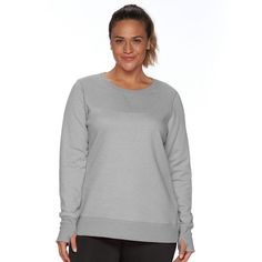 Plus Size Tek Gear® Fleece Crewneck Sweatshirt, Women's, Size ...