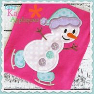 Skating Snowman 5x7, 6x10, 8x8