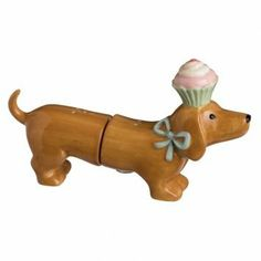 "Grasslands Road Dachshund Salt & Pepper Shakers by Grasslands Road. $12.95. 3 1/4"" x 5 1/2"". Ceramic. Gift box with photo label. Wipe clean with a damp cloth. Great birthday gift for a dachshund lover. Grasslands Road Dachshund Salt & Pepper Shakers"