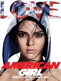 Kendall Jenner on the cover of LOVE Magazine