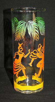 Vintage Swanky Swig glass of dancing couple in vibrant colors!