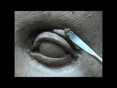 Sculpting open eyes in clay. Sculpting tutorial and demo how to sculpt eyes in clay. Sculpting by Joanna Mozdzen www.joannamozdzen.com