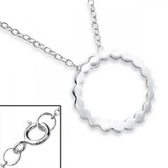925 sterling silver #necklace with circle pendant, model: CBL20-BH-JB6121/19303, made in #Thailand by #ELF925