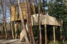 (62) Hoteles Insolitos 9 - ¿Alguna vez soñaste con dormir en los árboles? Las Cabañas del Bosque, en la localidad de Outes, te permiten cumplirlo. Estas casas elevadas están perfectamente equipadas y disponen de todo lo necesario para relajarse en la naturaleza.