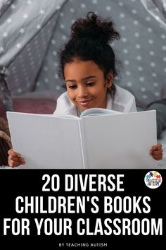 It is so important that we ensure our students have access to a range of diverse books in our classrooms and homes too. This list of 20 kids books is perfect for you to ensure that you are offering a range of diverse children's books to your students. Autism Teaching, Child Teaching, Autism Classroom, Special Education Classroom, Daily 5 Activities, Sensory Activities, Literacy Activities, Literacy Stations, Literacy Centers