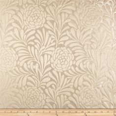 Richloom Bosworth Satin Jacquard Cream from @fabricdotcom  This medium weight satin jacquard fabric is perfect for window treatments (draperies, curtains, valances), accent pillows, duvet covers, and upholstery. Colors include cream and ivory.