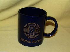 UNIVERSITY NORTH CAROLINA ROTC MUG NAVAL UNC CHAPEL HILL BLUE GOLD LVX LIBERTAS