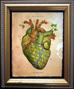 The Hoppy Heart Print - Vintage Anatomy Heart Beer Hops Art Print - Vintage Art Print on Tea Stained Paper - Vintage Art Print by TeaStainedMadness on Etsy https://www.etsy.com/listing/275017508/the-hoppy-heart-print-vintage-anatomy