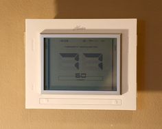 Hunter Internet Thermostat  http://busy-at-home.com/blog/installing-a-hunter-internet-thermostat-a-good-first-project-for-beginning-diyers-review-give-away/#