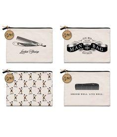 c96555a361d8 Men s Zippered Canvas Bags by Molly  amp  Rex s Rex Dry Goods  Each 101⁄