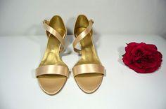 Sandálky - vanilkovozlatá satén, Veľ 40, Cena vo výpredaji 34,- Eur hotové modely - možnosť okamžitej zásielky. Sandals, Shoes, Fashion, Slide Sandals, Moda, Shoes Sandals, Zapatos, Shoes Outlet, Fasion