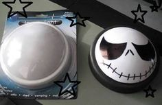Got a Sharpie? Turn a simple nightlight into the Nightmare before Christmas eyes.