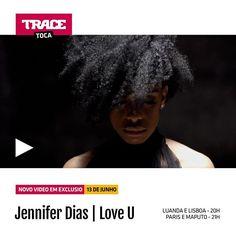 """Novo video """"Love You"""" da Jennifer Dias,daqui a pouco no TRACE Toca, 20h Luanda/Lisboa e 21h Maputo/Paris.TRACE Toca A Paixão Da Musica! #tracetoca #estreia #jenniferdias @jenniferdias_official #apaixaodamusica #kizomba #zouk #new"""