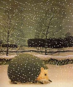 Ann and Reg Cartwright - Winter Hedgehog - the art work in this is amazing. Have been looking for a picture from it for ages.