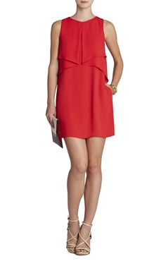 BCBG Amelie Sleeveless Draped Dress