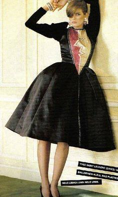 Model Gia wearing Yves Saint Laurent (Vogue Oct. 1979)  Photo by Denis Piel
