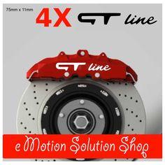 Kit 4 stickers étrier de frein GT Line - e Motion Solution Shop