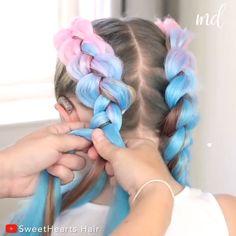 Hair Tutorials For Medium Hair, Medium Hair Styles, Curly Hair Styles, Rave Hair, Girl Hair Dos, Hair Videos, Festival Hair, Toddler Hair, Braids For Long Hair