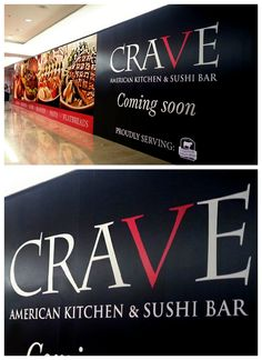 We created the graphics and barricade for Crave at Westfield Montgomery, building excitement for the grand opening.