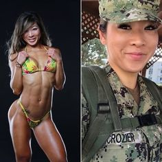 Here we share a new collection of ARMY WOMEN in and out of uniform. These are the 77 beautiful ARMY WOMEN looking gorgeous without uniform. Sexy Women, Badass Women, Fit Women, Sexy Bikini, Mädchen In Uniform, Tumbrl Girls, Female Soldier, Military Women, Girls Uniforms
