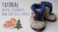Botitas Esquimales para bebé a crochet(Baby booties crochett)