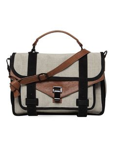 PS1 Leather and canvas satchel handbag