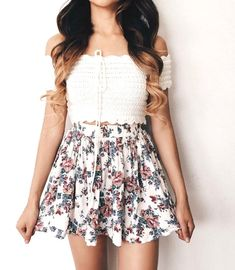 25 Best Inspiring Cute Summer Outfits For Girl - Pinmagz Casual Summer Outfits For Women, Summer Fashion For Teens, Warm Outfits, Cute Casual Outfits, Cute Skirt Outfits, Cute Skirts, Girly Outfits, Cute Dresses, Sport Outfits