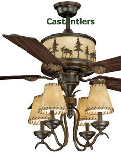 Medallion Rustic Lodge Ceiling Fan w/ Bear, Deer, Moose or Pine ...:Medallion Rustic Lodge Ceiling Fan w/ Bear, Deer, Moose or Pine Tree Light  Kit | For the Home | Pinterest | Trees, Ceiling fans and Products,Lighting