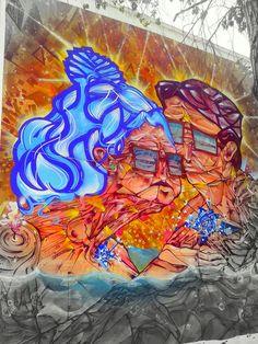 Street Art Museo a Cielo Abierto in Chile, Santiago, San Miguel 12