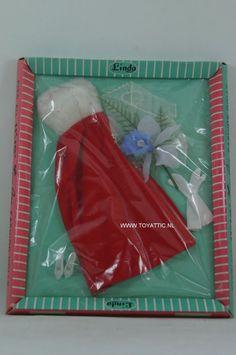 Sindy Barbie clone vintage sized fashion red white long dress for Linda NRFB #ClothingAccessories