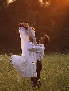 Cute place for wedding pictures, but I would try to make it look a little more graceful.