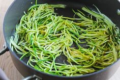 """Make """"zoodles"""" - julienned zucchini or other abundant summer squash noodles and steam or sauté for a GF noodle base.  I also use a vegetable peeler to make wide """"zoodles."""""""